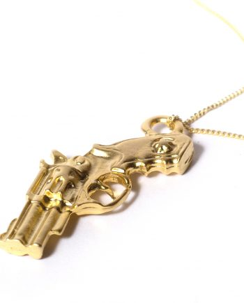 Gun Necklace // Revolver