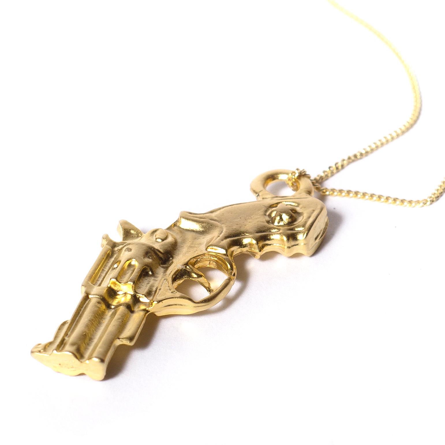 gun necklace revolver