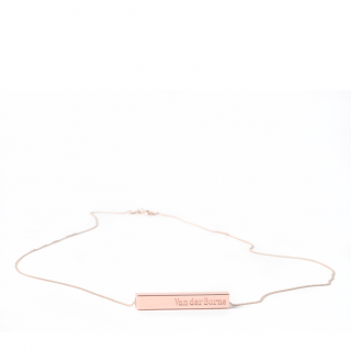 Bar Necklace // Rose