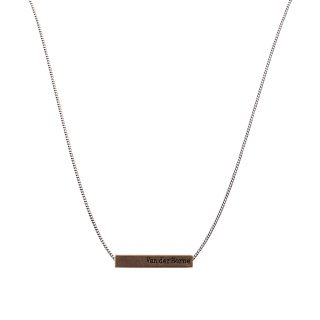 Bar Necklace // Silver Brass