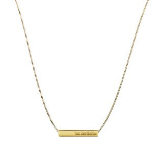 Bar Necklace // Gold