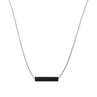 Bar Necklace // Silver Black