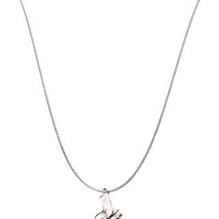 Gun Necklace // Silver