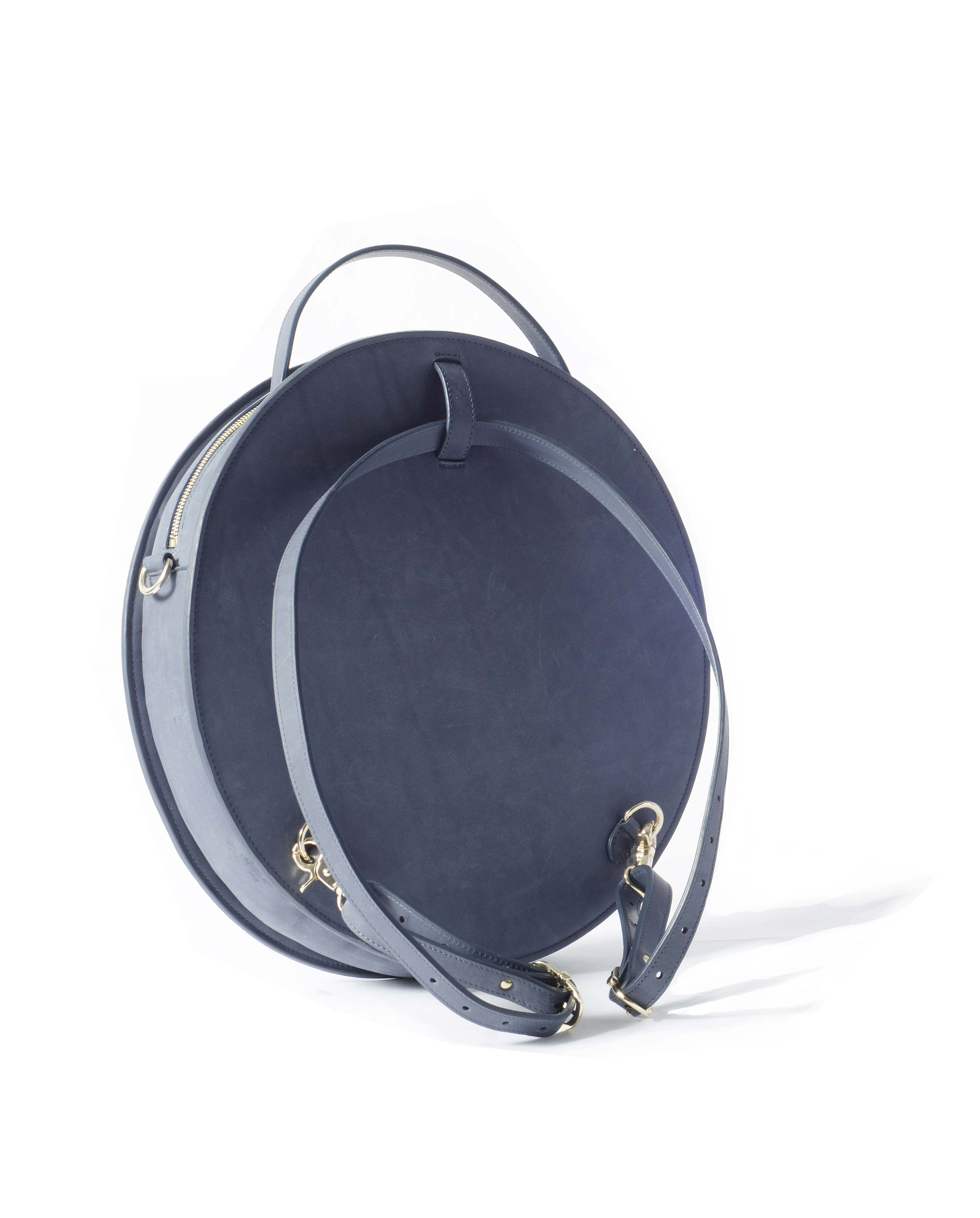 leather pizza bag round bag