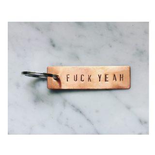 Key Ring FUCK YEAH // Copper